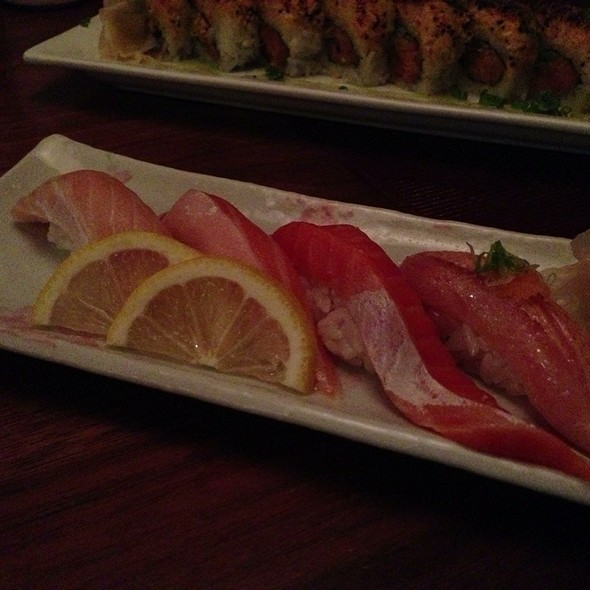 Salmon Sushi Sampler - Momiji Restaurant, Seattle, WA