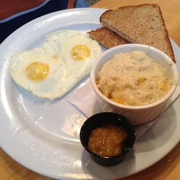Fried Eggs, Cheese Grits, And Toast - Dexters of Thornton Park, Orlando, FL