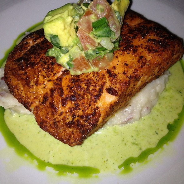 Salmon W Mashed Potatoes! - Bungalow, Corona Del Mar, CA