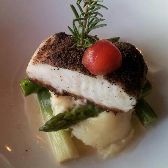 Mushroom Crusted Seabass - Bayside Restaurant, Newport Beach, CA