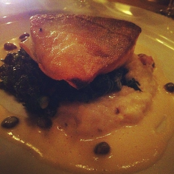 Arctic Char With Polenta And Kale - Stone Park Cafe, Brooklyn, NY