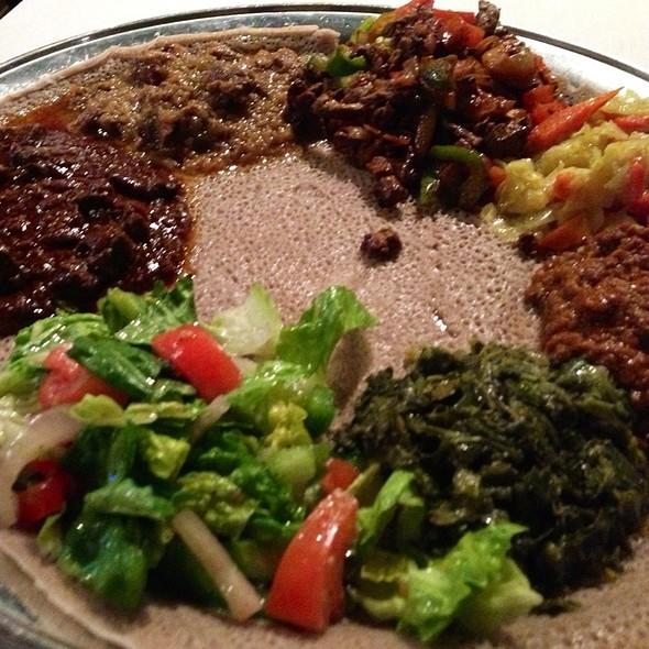 Meat And Vegitarian Combination Platter - Addis Ethiopian, Richmond, VA
