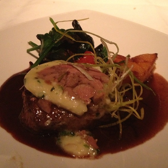 Seared Bison Fillet Topped With Foie Gras  - Mariposa (Deer Valley Resort), Park City, UT