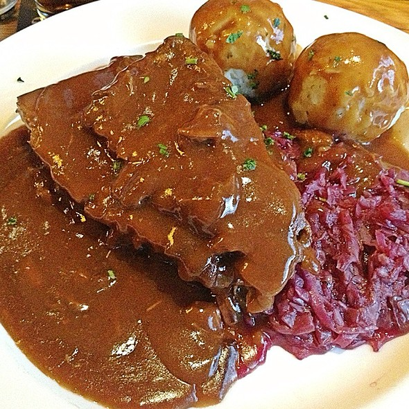 sauerbraten - Old Stein Inn, Edgewater, MD