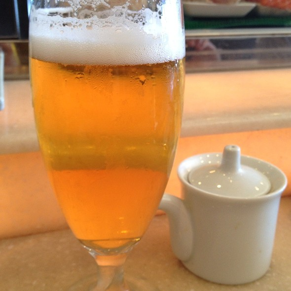 Asahi Draft Beer - Bluefin Restaurant, Newport Coast, CA