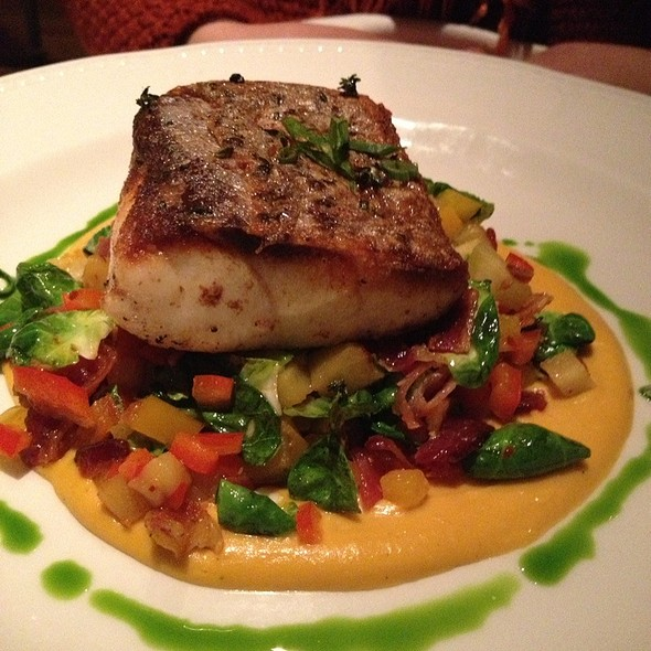 Sea Bass With Salsa And Butternut Squash Puree - Tico, Boston, MA