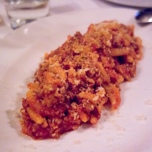 Malloreddus a sa Campidanese (Semolina Gnochetti with Pork meats Sugo and 12 Months Pecorino)  - La Ciccia, San Francisco, CA