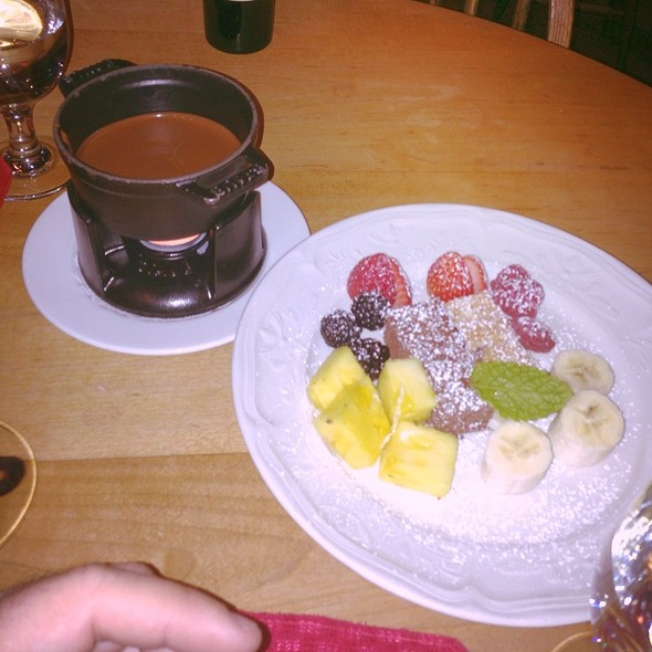 Chocolate Hazelnut Fondue - Swiss Chalet, Vail, CO