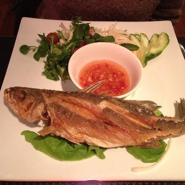 Crispy Sea Bass With Chilli Ginger Sauce - Da Nang Kitchen, London