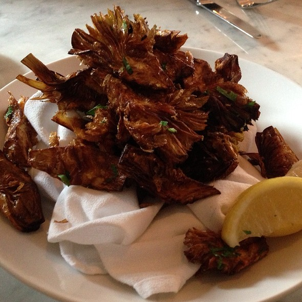 Fried Artichoke Hearts With Lemon Zest And Sea Salt - Savona - King of Prussia, Gulph Mills, PA