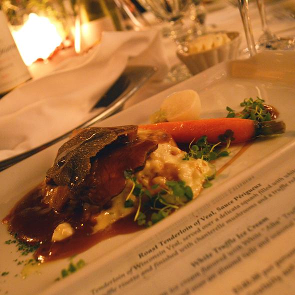 Roast Tenderloin of Veal with Sauce Périgueux - Chez Francois - Vermilion, Vermilion, OH