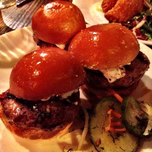 Lamb Sliders - Sens Restaurant, San Francisco, CA
