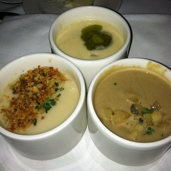 Trio Of Soup Shooters - Peninsula Grill, Charleston, SC