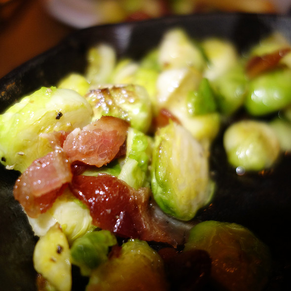 Grilled brussels sprouts with bacon - Municipal Bar + Dining Co., Chicago, IL