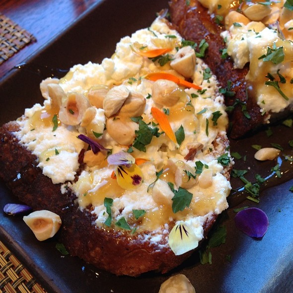 Fresh Ricotta Crostini W Honey And Hazelnuts - Osteria Stellina, Point Reyes Station, CA