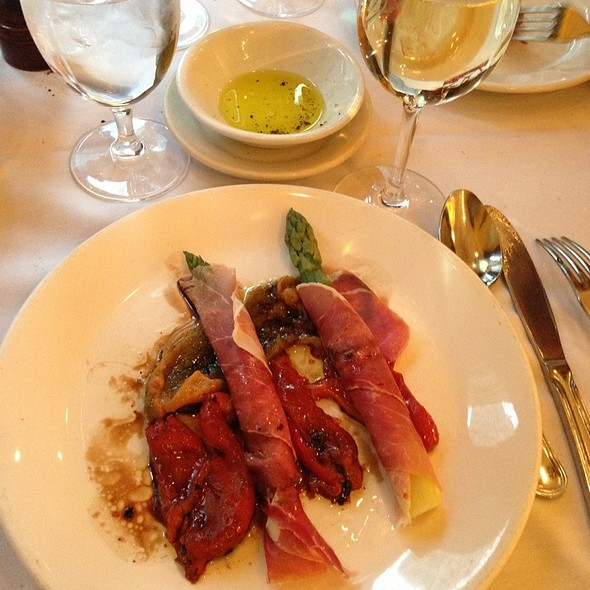 Asparagus Wrapped In Proscuitto With Grilled Peppers - Luce Restaurant & Enoteca, New York, NY