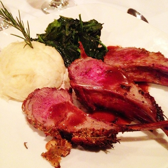 Rack Of Lamb With Gorgonzola Mashed Potatoes - Ristorante Divino, Columbia, SC
