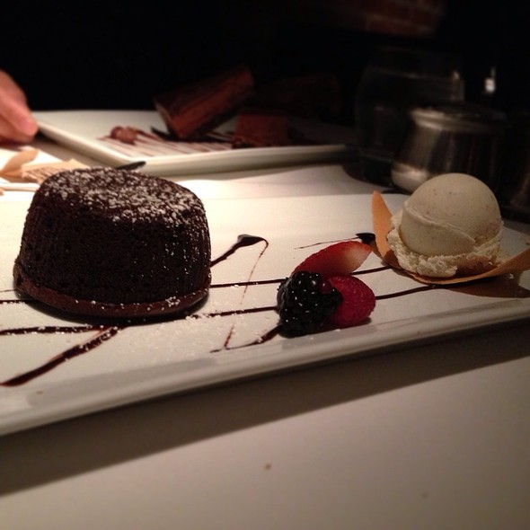 Chocolate Lava Cake with Vanilla Ice Cream - Parkway Grill, Pasadena, CA