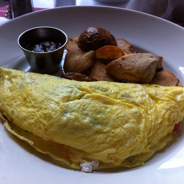 Greek Omelette With Baked Potatoes - Tavern on Rush, Chicago, IL
