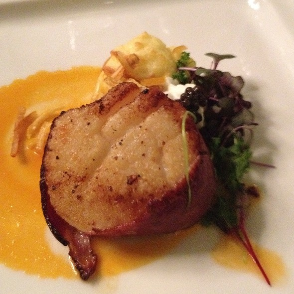Bacon Wrapped Sea Scallop - La Caille Restaurant, Sandy, UT