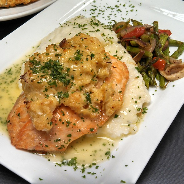Crab Stuffed Salmon - Duval's Fresh. Local. Seafood., Sarasota, FL