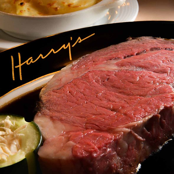 Prime Rib with Potatoes au Gratin - Harry's Savoy Grill, Wilmington, DE