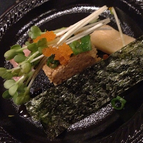 Savory Uni Cheesecake With Mentsuyu,Sprouts,Wasabi,Pickled Daikon,Ginger And Nori - Posh - Scottsdale, Scottsdale, AZ