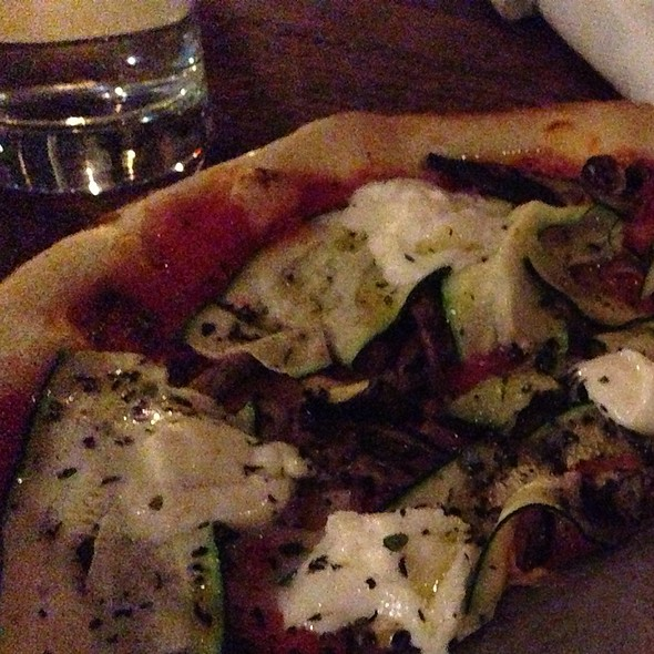 Eggplant Pizza With Burrata - Laurel Hardware, West Hollywood, CA