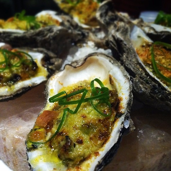 Sizzling Oysters R'evolution Style - Restaurant R'evolution, New Orleans, LA