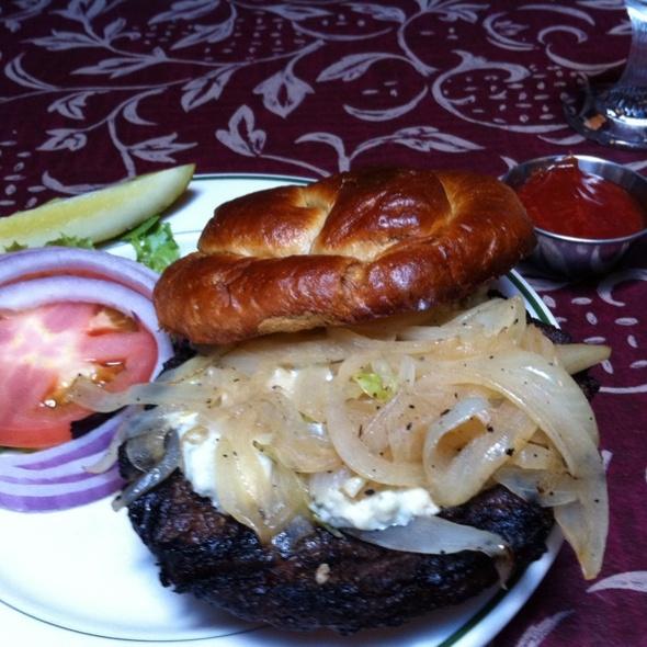 Gorgonzola Onion Angus Burger - Vera Mae's Bistro, Muncie, IN
