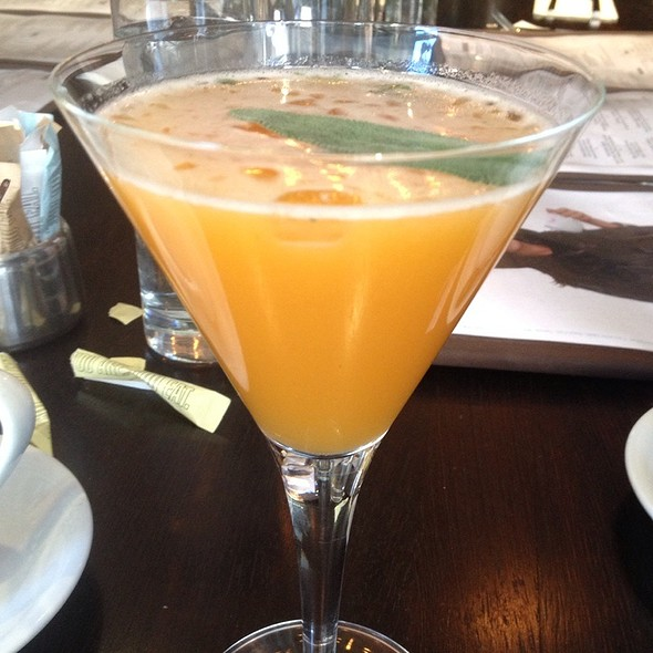 Apricot And Sage Martini - Cafeteria, New York, NY