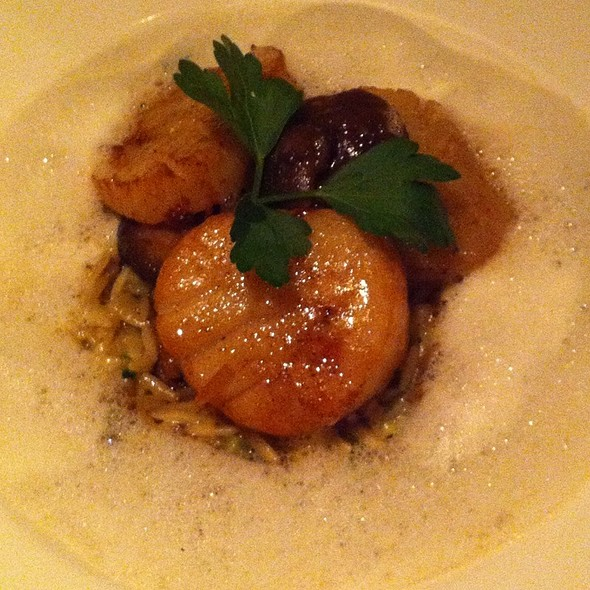 Scallops In Foam - Au Midi Restaurant & Bistrot, Aptos, CA