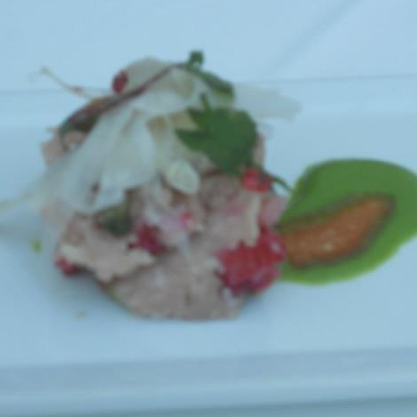 Albacore Tartare With Strawberries Asparagus Horseradish And Pistachios - The Foundry On Melrose, Los Angeles, CA