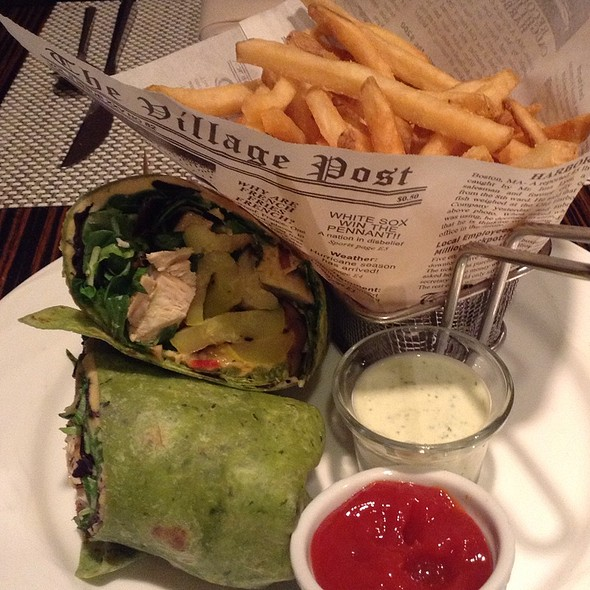 Chicken Wrap & Fries  - MIX Restaurant & Lounge, Anaheim, CA