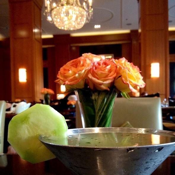 Basil Cucumber Midori Martini - THE Blvd - Beverly Wilshire Hotel, Beverly Hills, CA