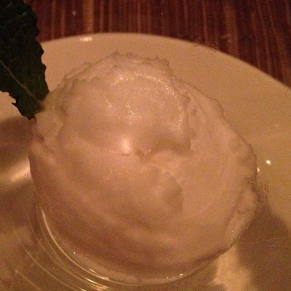 Meyer Lemon Sorbet - Dettera Restaurant & Wine Bar, Ambler, PA