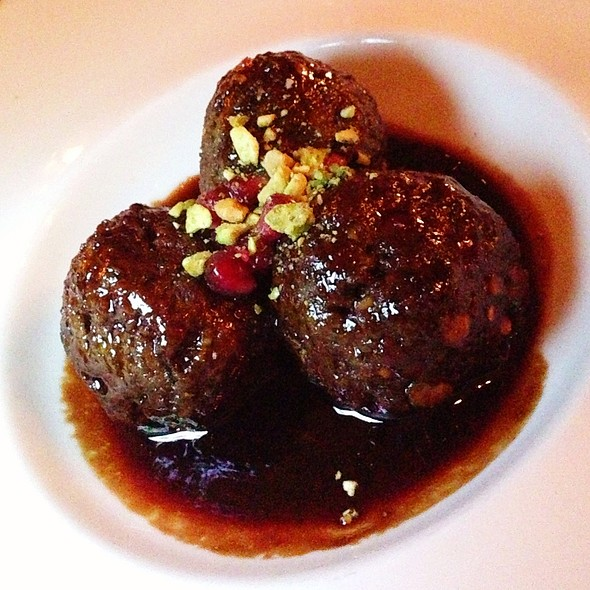 Pomegranate & Pistachio Meatballs - The Fly Trap, San Francisco, CA