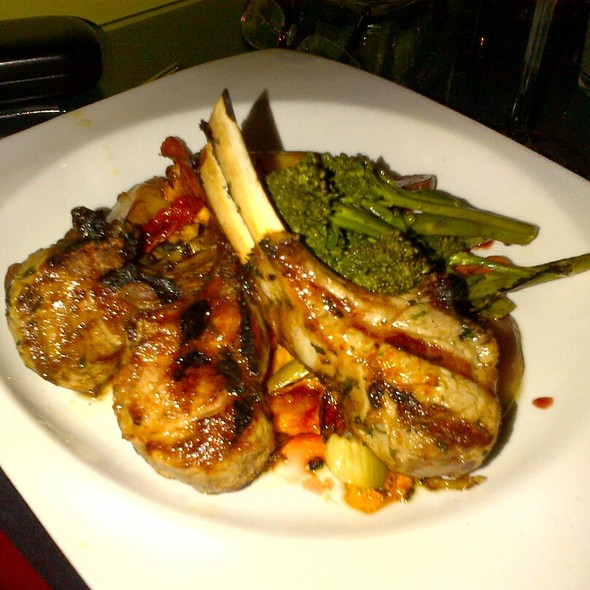 Lamb Chops With Blood Orange Reduction - Frida Bistro, Salt Lake City, UT