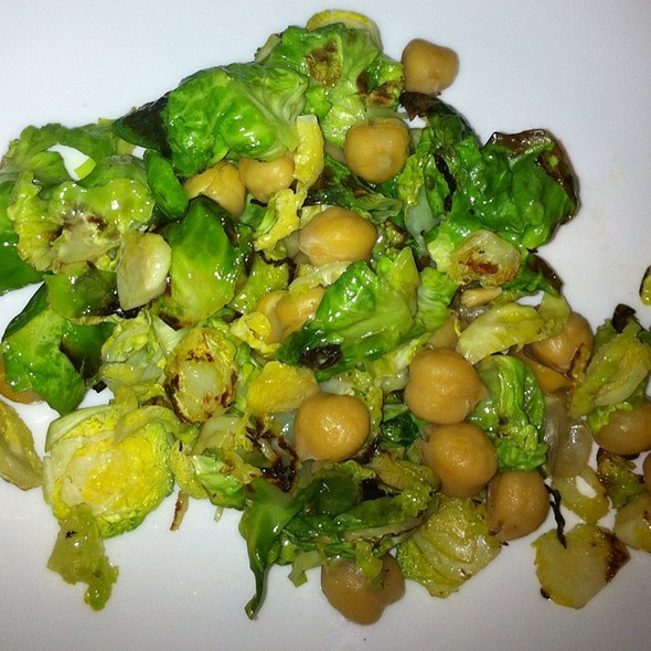 Brussel Sprouts With Chickpeas - la Posta, Santa Cruz, CA