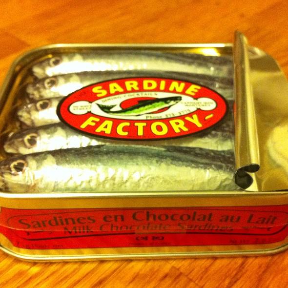 Chocolate Sardines - Sardine Factory, Monterey, CA
