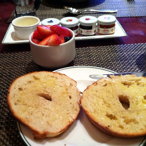 Toasted Bagel With Butter, Cup Of Fresh Berries - The Henry - The Cosmopolitan of Las Vegas, Las Vegas, NV