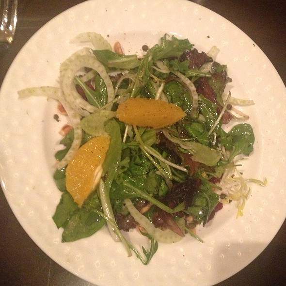 Fennel Salad With Argula, Orange, Lentils, With Cranberries - cityhouse, Arlington, VA