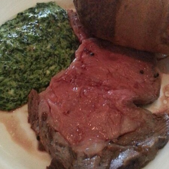 Prime Rib With Creamed Spinach - Summit House Restaurant - Fullerton, Fullerton, CA