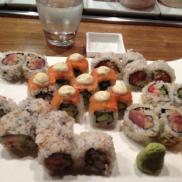 Tuna Roll, Spicy Hamachi Roll And Salmon Cream Roll - Jado Sushi, New York, NY