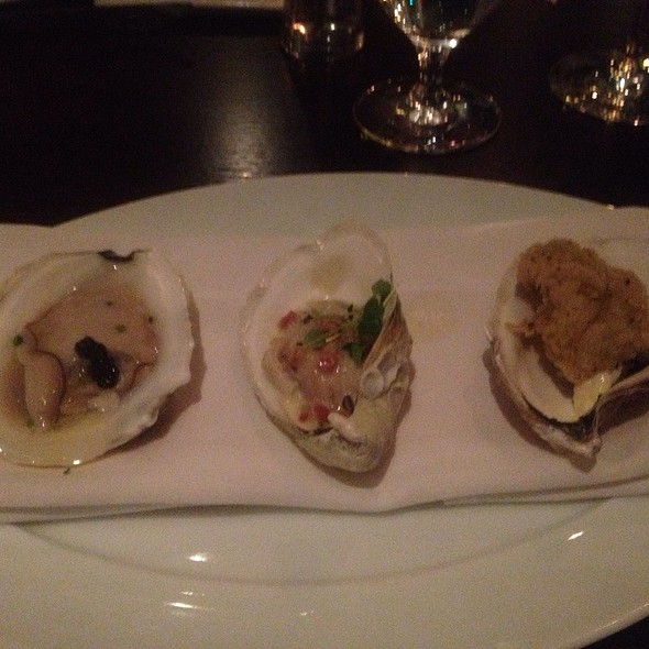 A Trio Of Oysters - Deuxave, Boston, MA