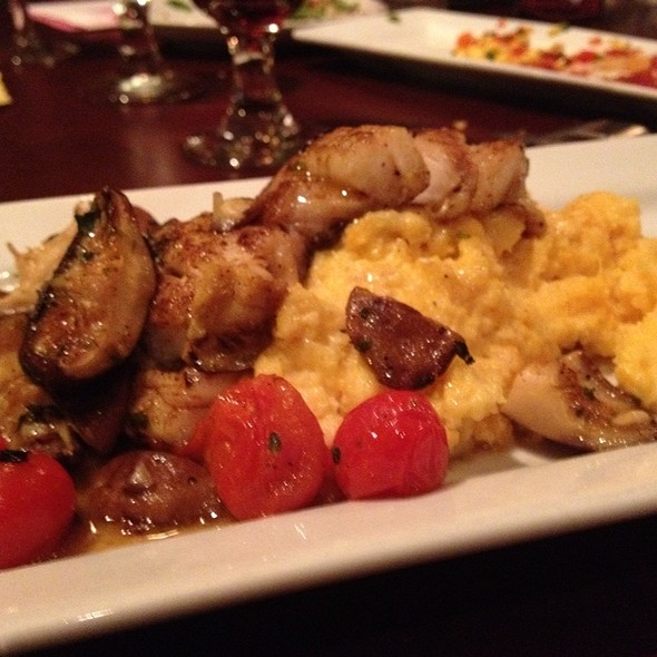 Grouper With Polenta And Roasted Mushrooms And Tomatoes - Below The Radar, Huntsville, AL