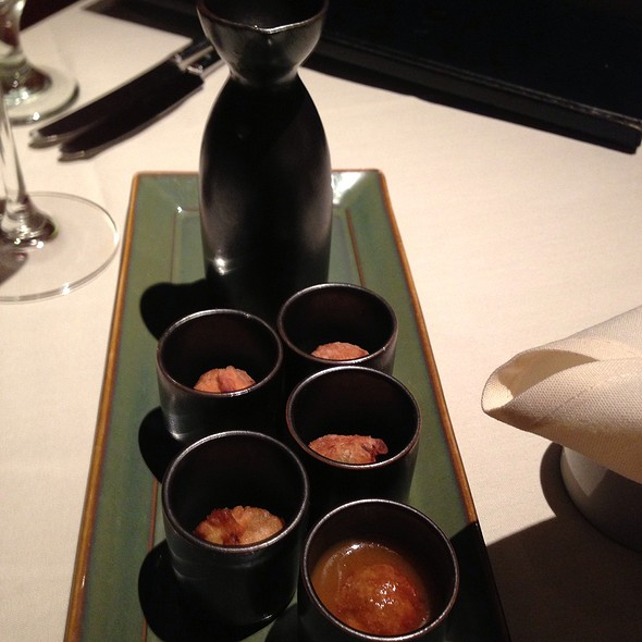 """Lobster-Scallion """"Shooters"""" - Abacus, Dallas, TX"""