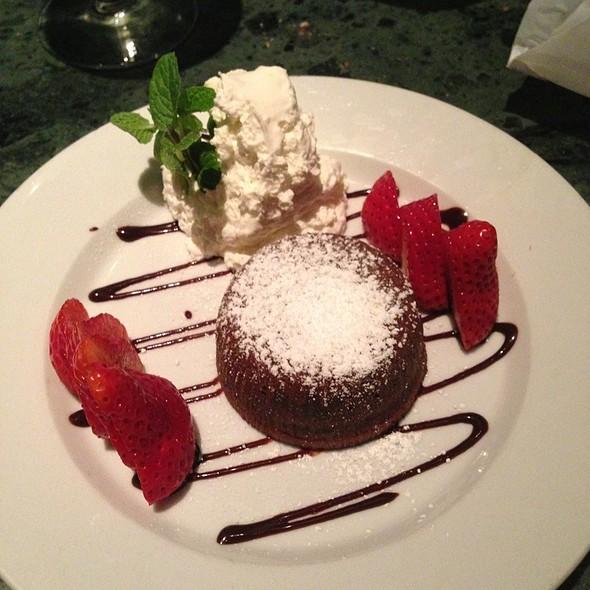 Molten Chocolate Cake - La Vecchia Cucina, Santa Monica, CA