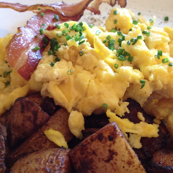 Four Scrambled Eggs With Bacon And Homefries - Local Roots (Virginia) - A Farm to Table Restaurant, Roanoke, VA