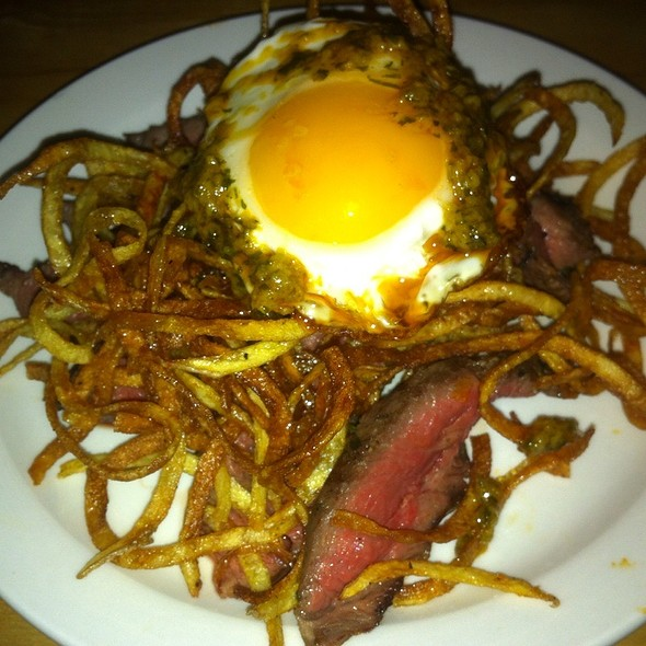 Steak Frites With Fried Pee Wee Egg - Torito Tapas, Toronto, ON